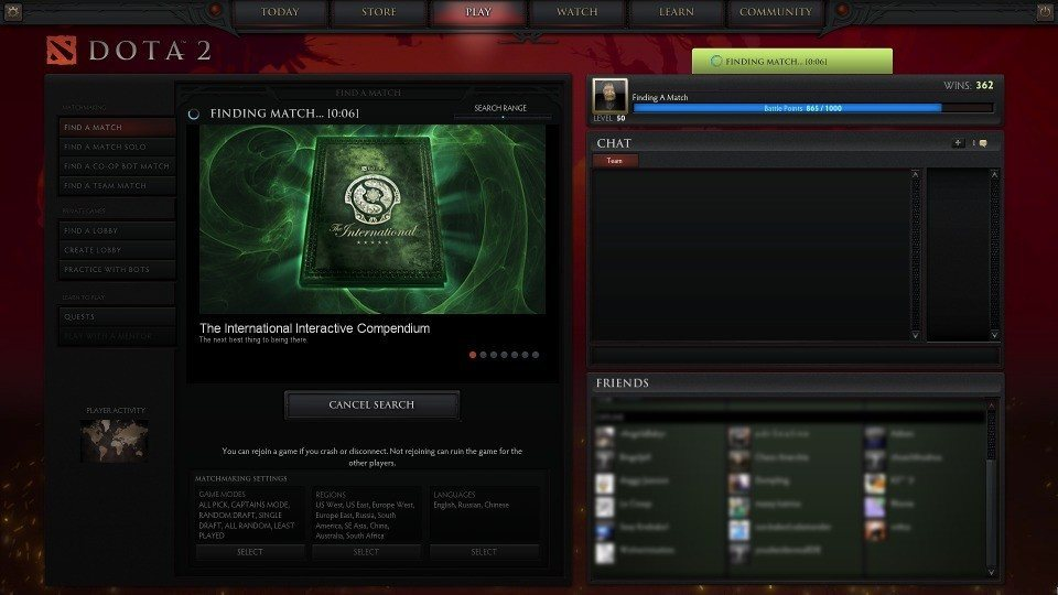Low matchmaking dota