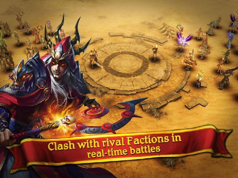 Clash for Dawn Guild War APK MOD imagen 3