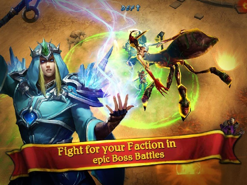Clash for Dawn Guild War APK MOD imagen 4