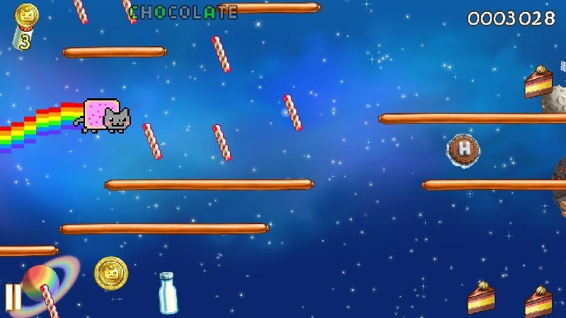 Nyan Cat Lost In Space APK MOD imagen 1