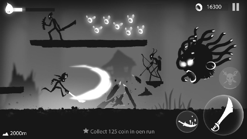 Stickman Run Shadow Adventure APK MOD imagen 4