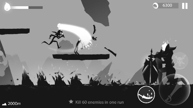 Stickman Run Shadow Adventure APK MOD imagen 5
