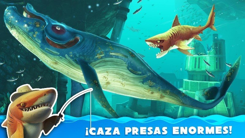 Hungry Shark World APK MOD imagen 2