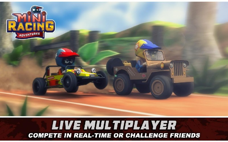 Mini Racing Adventures APK MOD imagen 1