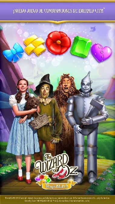 The Wizard of Oz Magic Match 3 APK MOD imagen 1
