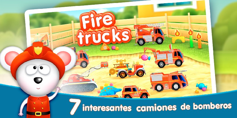 Firetrucks Rescue for Kids APK MOD imagen 1