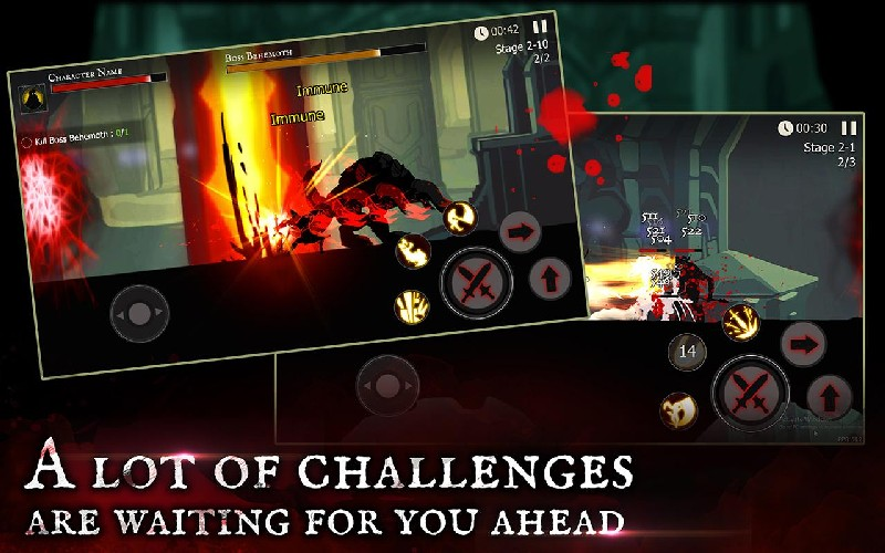 Shadow of Death Dark Knight - Stickman Fighting APK MOD imagen 1