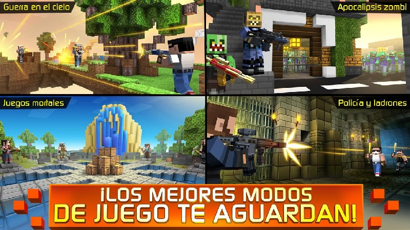 Craft Shooter Online Guns of Pixel Shooting Games APK MOD imagen 4