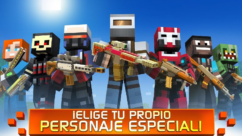 Craft Shooter Online Guns of Pixel Shooting Games APK MOD imagen 5