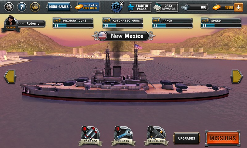 Ships of Battle The Pacific APK MOD imagen 2