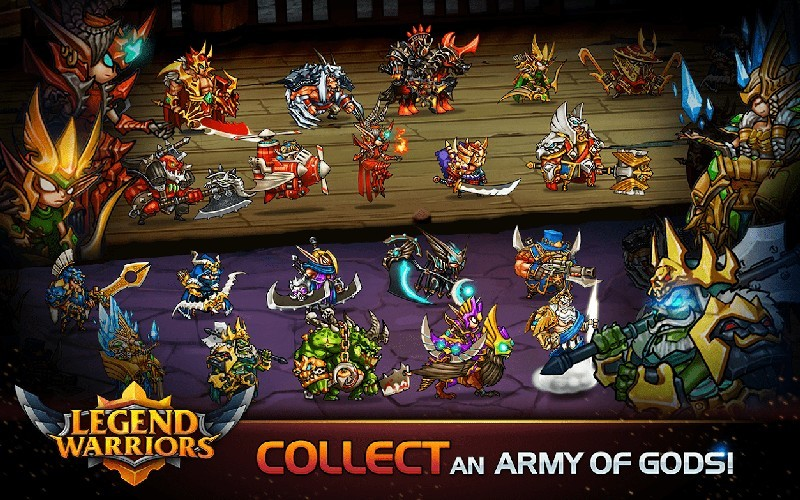Legend Warriors Epic Heroes Battle APK MOD imagen 2