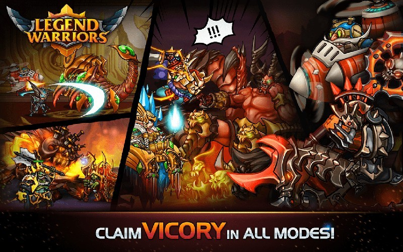 Legend Warriors Epic Heroes Battle APK MOD imagen 4