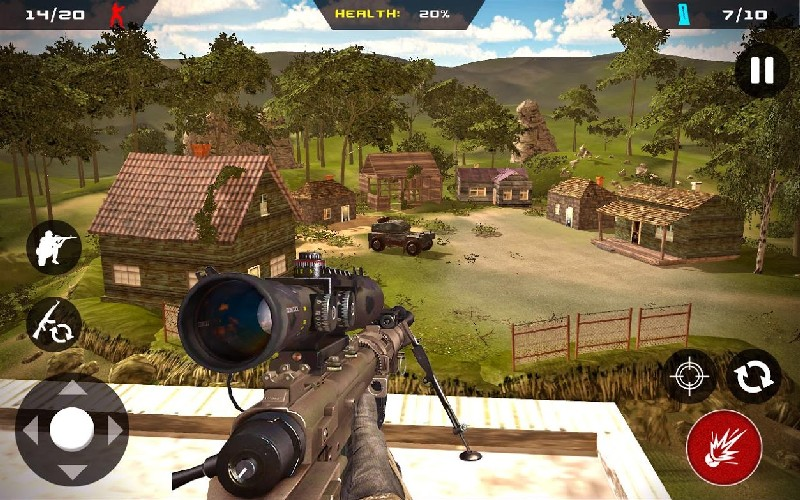 Sniper Ghost Commando Warrior - Jungle Survival APK MOD imagen 1