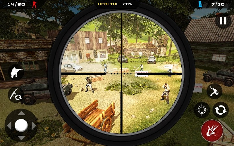 Sniper Ghost Commando Warrior - Jungle Survival APK MOD imagen 2
