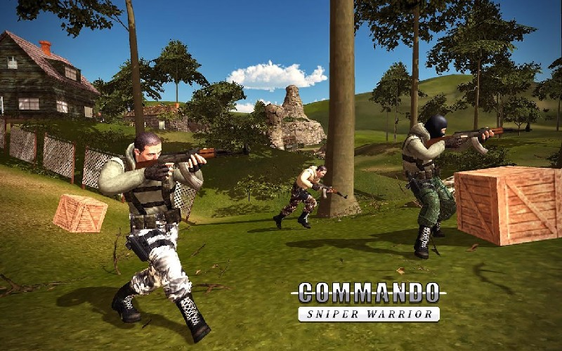 Sniper Ghost Commando Warrior - Jungle Survival APK MOD imagen 4