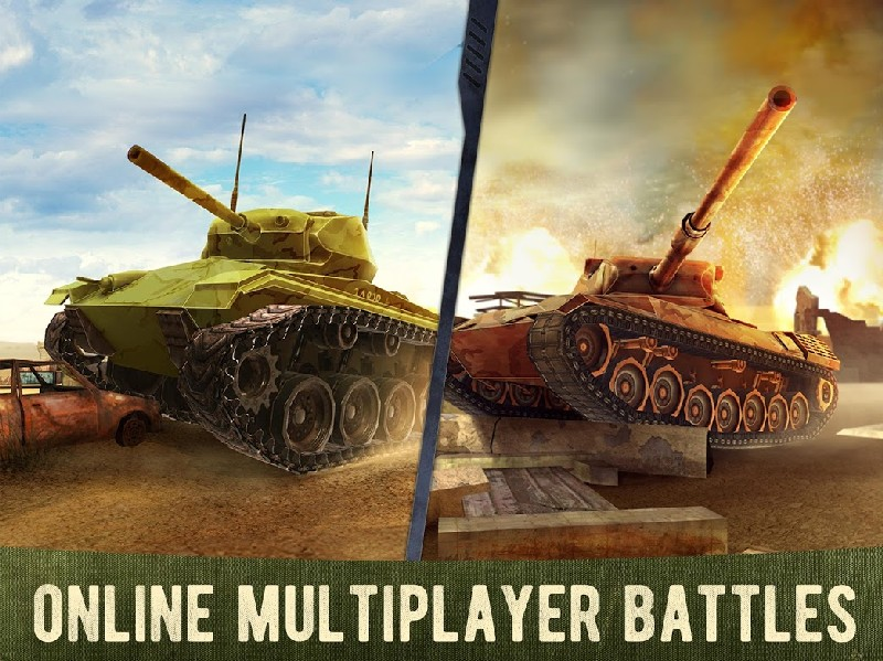 War Machines Free Multiplayer Tank Shooting Games APK MOD imagen 3