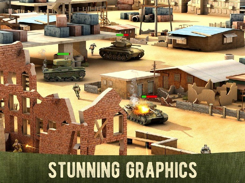 War Machines Free Multiplayer Tank Shooting Games APK MOD imagen 4