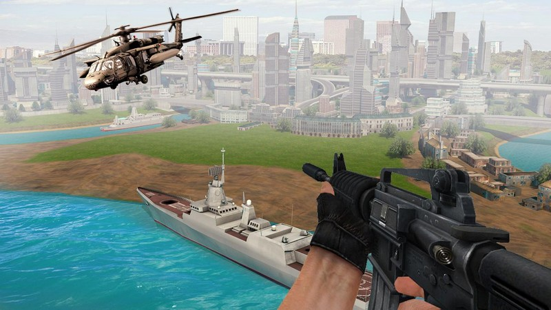 Air Force Shooter 3D - Helicopter Games APK MOD imagen 1