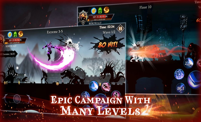 Shadow Fight Heroes - Dark Knight Legends Stickman APK MOD imagen 2