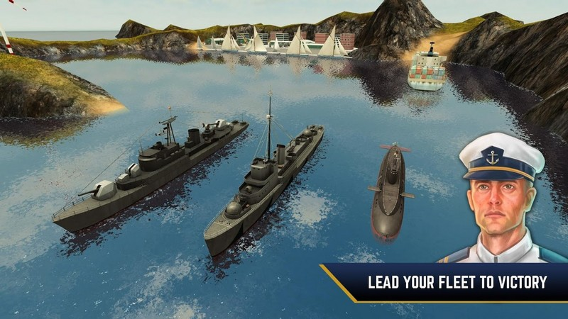 Enemy Waters Submarine and Warship battles APK MOD imagen 1