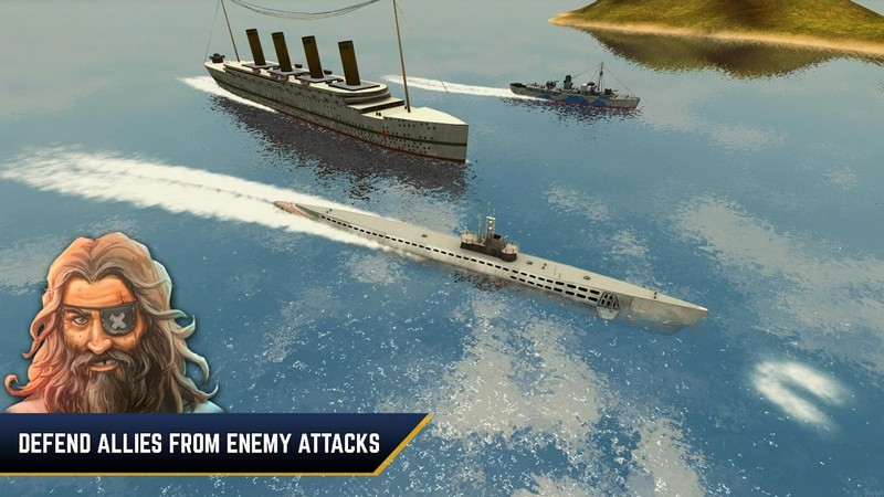 Enemy Waters Submarine and Warship battles APK MOD imagen 2