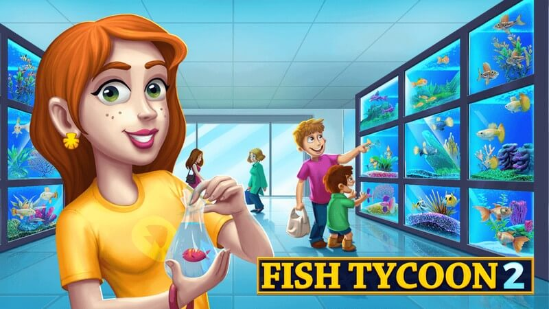 Fish Tycoon 2 Virtual Aquarium APK MOD imagen 1