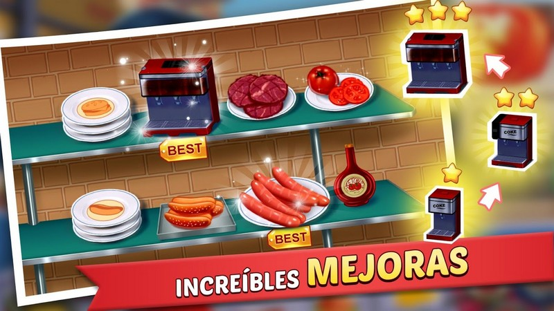 Kitchen Craze - Master Chef Cooking Game APK MOD imagen 3