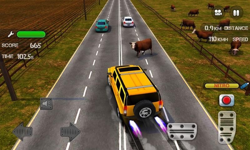 Race the Traffic Nitro APK MOD imagen 1