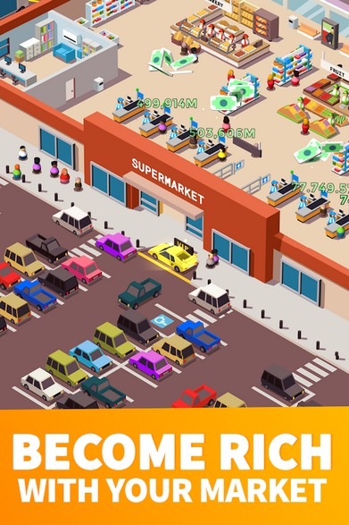 Idle Supermarket Tycoon - Tiny Shop Game APK MOD imagen 2
