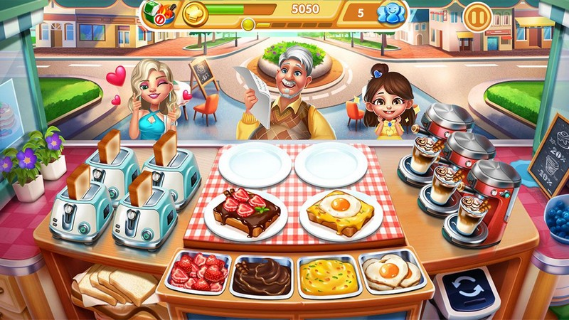 Cooking City - crazy restaurant game APK MOD imagen 1