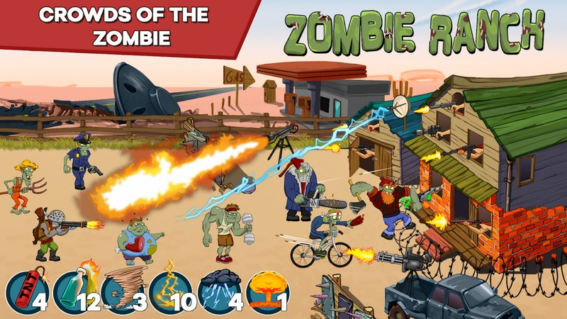 Zombie Ranch - Battle with the zombie APK MOD imagen 2