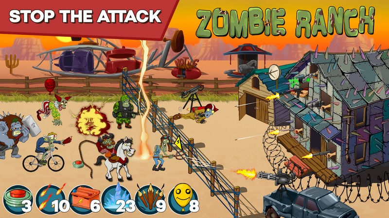 Zombie Ranch - Battle with the zombie APK MOD imagen 3