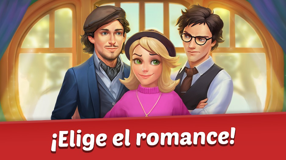 Family Hotel Romantic story decoration match 3 APK MOD Imagen 3