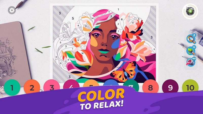Gallery Coloring Book & Decor APK MOD imagen 2