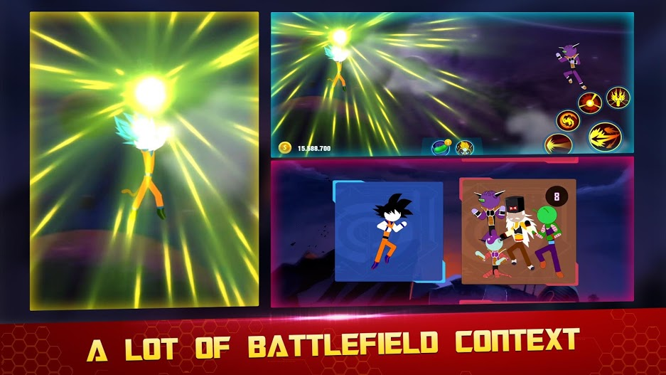 Stick Z- Super Dragon Fight APK MOD Imagen 2