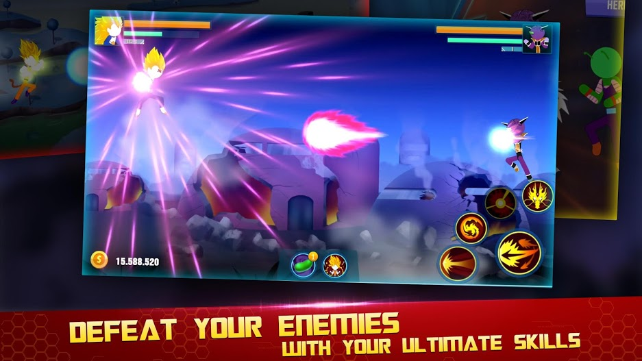 Stick Z- Super Dragon Fight APK MOD Imagen 3