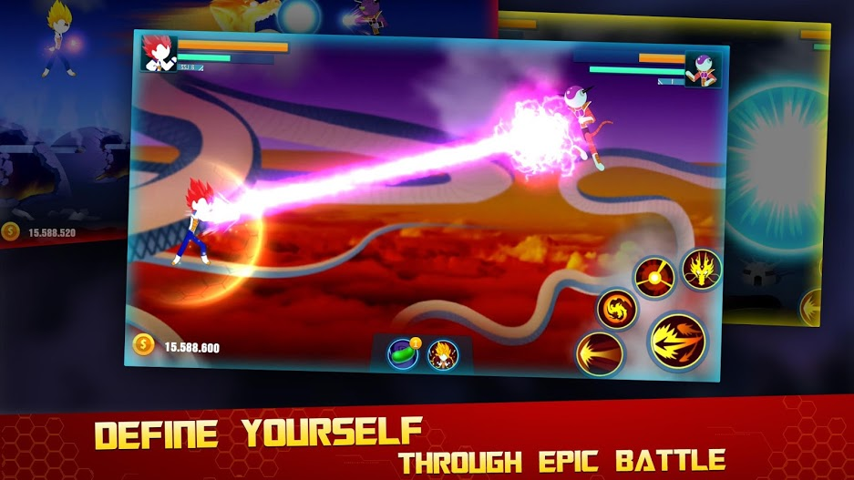 Stick Z- Super Dragon Fight APK MOD Imagen 4