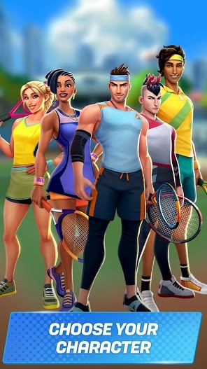 Tennis Clash 3D Free Multiplayer Sports Games APK MOD Imagen 2