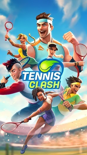 Tennis Clash 3D Free Multiplayer Sports Games APK MOD Imagen 3