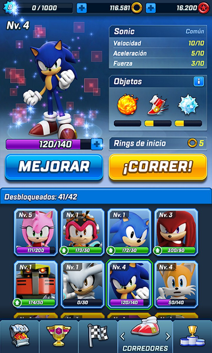Sonic Forces: Speed Battle APK MOD v3.0.1 (Modo invencible) 2